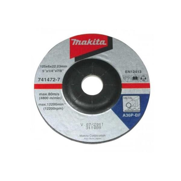 Диск зачистной по металлу Makita 125×6,0×22,2 мм