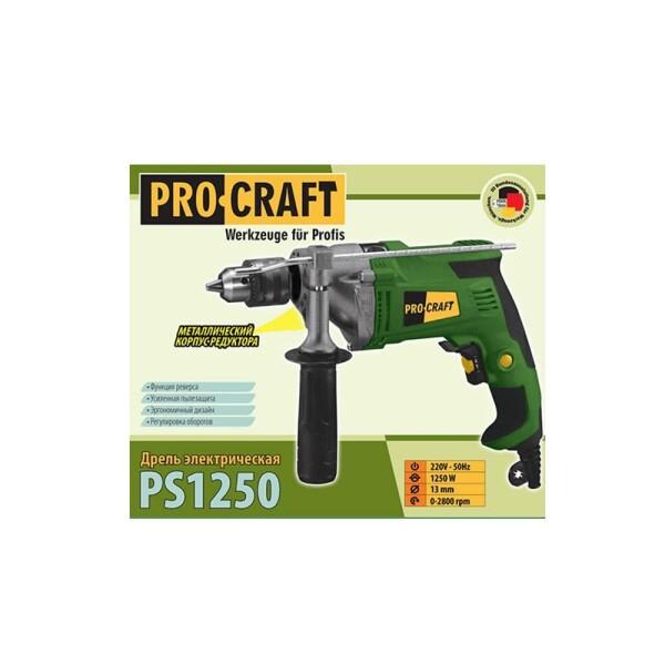 Дрель ударная Procraft PS1250
