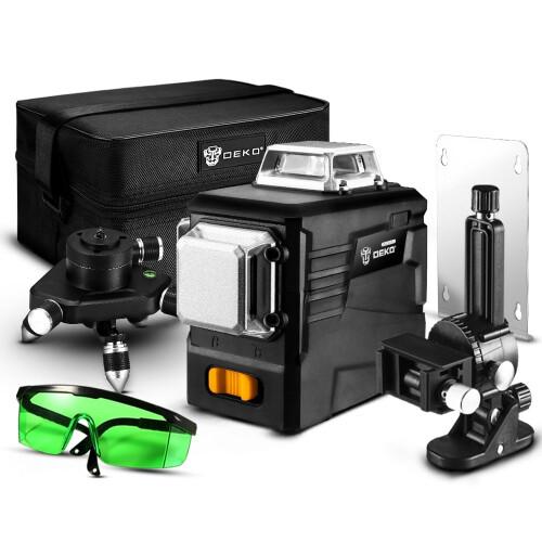 Лазерный уровень Deko DKLL12PB2 (бирюзовый луч) 3D 12 линий