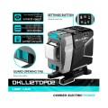 Лазерный уровень Deko DKLL12TDP02 (бирюзовый луч) 3D 12 линий