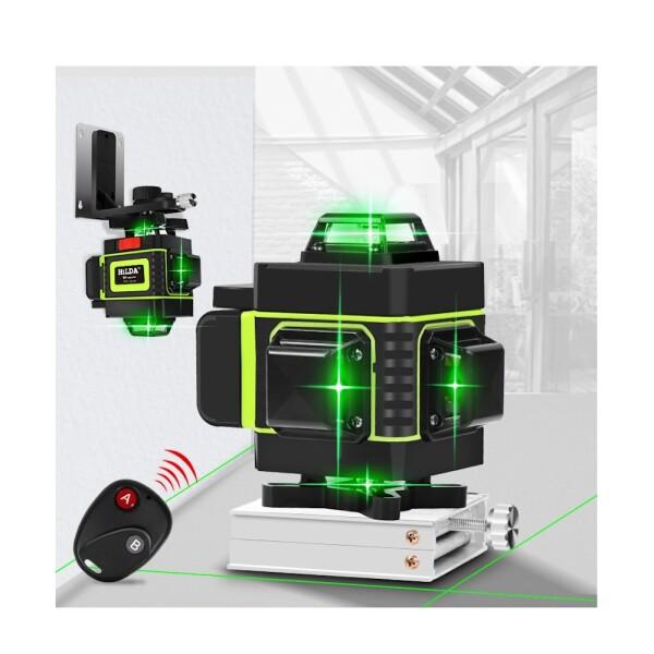 Лазерный уровень Hilda 4D 16 линий (зеленый луч) NEW 2020