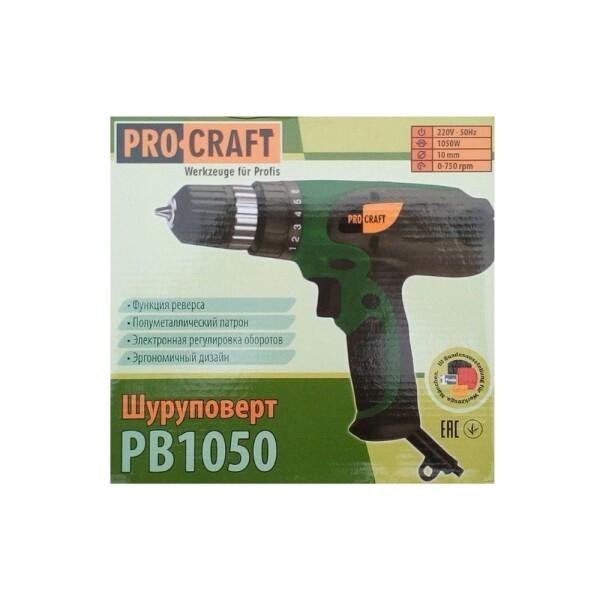 Шуруповерт сетевой Procraft PB1050