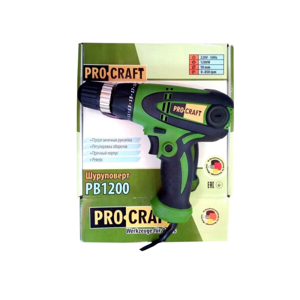 Шуруповерт сетевой Procraft PB1200