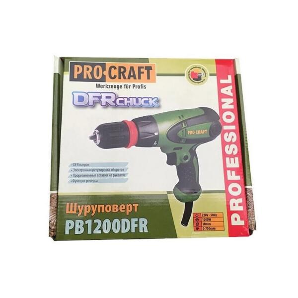 Шуруповерт сетевой Procraft PB1200DFR