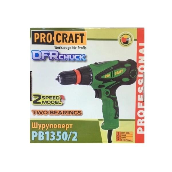 Шуруповерт сетевой Procraft PB1350/2DFR