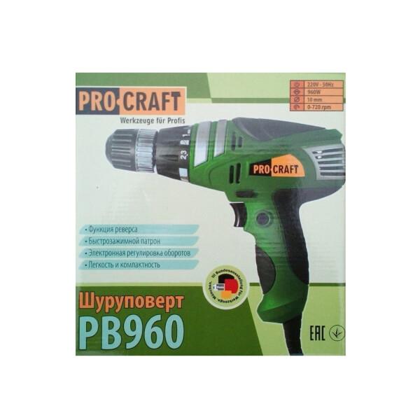 Шуруповерт сетевой Procraft PB960