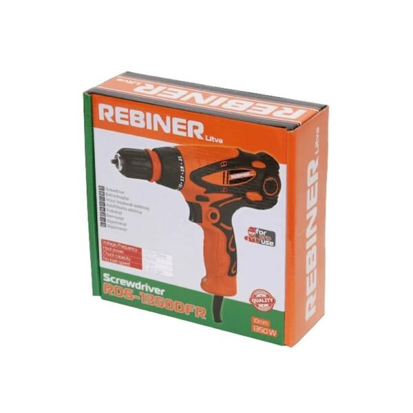 Шуруповерт сетевой Rebiner RDS-1350DFR