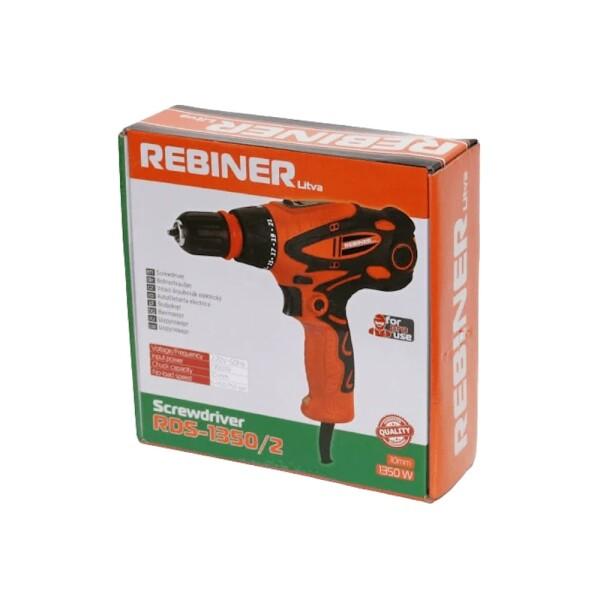 Шуруповерт сетевой Rebiner RDS-1350/2DFR